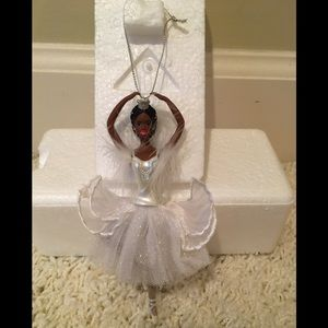 New Barbie African American Porcelain Ornament